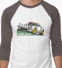 Lancia Stratos HF Alitalia livery Men's Baseball ¾ T-Shirt