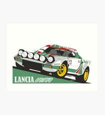 Lancia Stratos HF Alitalia livery Art Print