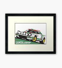 Lancia Stratos HF Alitalia livery Framed Print