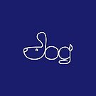 Dog Minimalist Text Art Typography by zachsymartsy