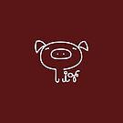 Pig Minimalist Text Art Typography by zachsymartsy