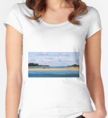 Urunga Inlet Women's Fitted Scoop T-Shirt