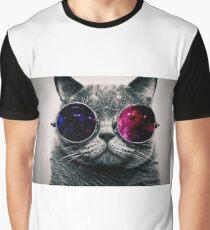 Legendary Cat Design Graphic T-Shirt