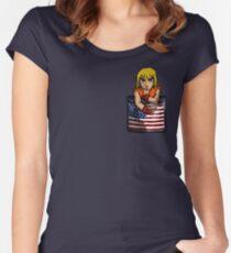 Street Fighter Pocket Pals - #2 Ken Women's Fitted Scoop T-Shirt
