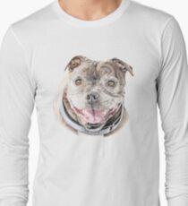 Freddie- Staffordshire Bull Terrier Long Sleeve T-Shirt