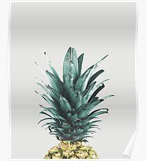 Ananas auf Rosa, Ananas-Top, Minimal Poster