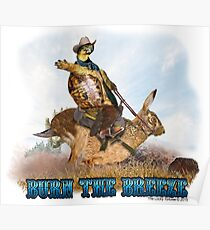 Turtle Cowboy - Burn the Breeze Poster