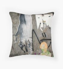 Street and Wall Arts in Germany, Graffiti  Throw Pillow