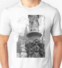 Old Middle Age Church and Victorian time street art, Germany T-Shirt