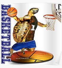 Turtle Basketball Player Poster