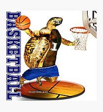 Turtle Basketball Player Photographic Print