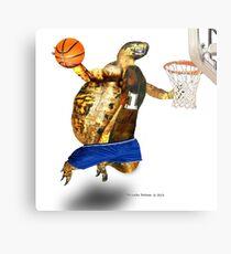Turtle Basketball Player Metal Print