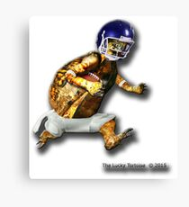Turtle Football Player Canvas Print