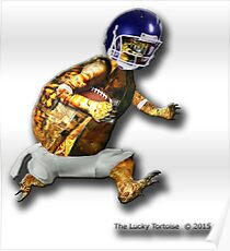 Turtle Football Player Poster