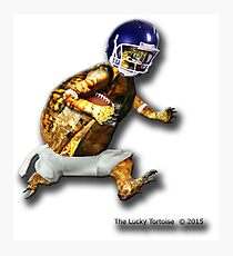Turtle Football Player Photographic Print