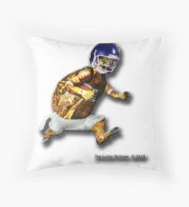Turtle Football Player Throw Pillow