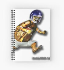 Turtle Football Player Spiral Notebook