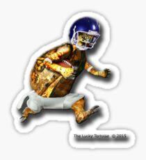 Turtle Football Player Sticker