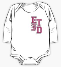 Varsity Letters (Pink in Black) One Piece - Long Sleeve