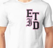 Every Time I Die - Varsity Letters (Black in Pink) Unisex T-Shirt