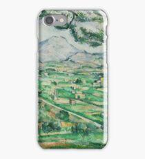 Paul Cezanne - Mont Sainte-Victoire 1886-1887 iPhone Case/Skin