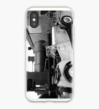 Old car and old steam tender iPhone Case