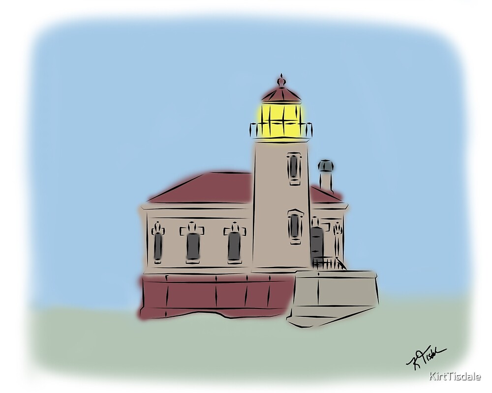 Coquille River Lighthouse by KirtTisdale
