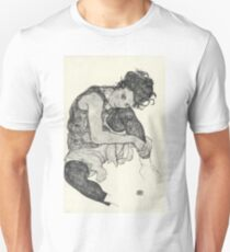 Egon Schiele - Zeichnungen I. 1917  Expressionism Woman Portrait T-Shirt