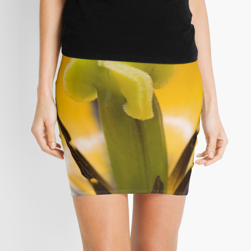 Close up of a yellow tulip flower Mini Skirt