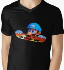 Luigi is watching you! Mens V-Neck T-Shirt
