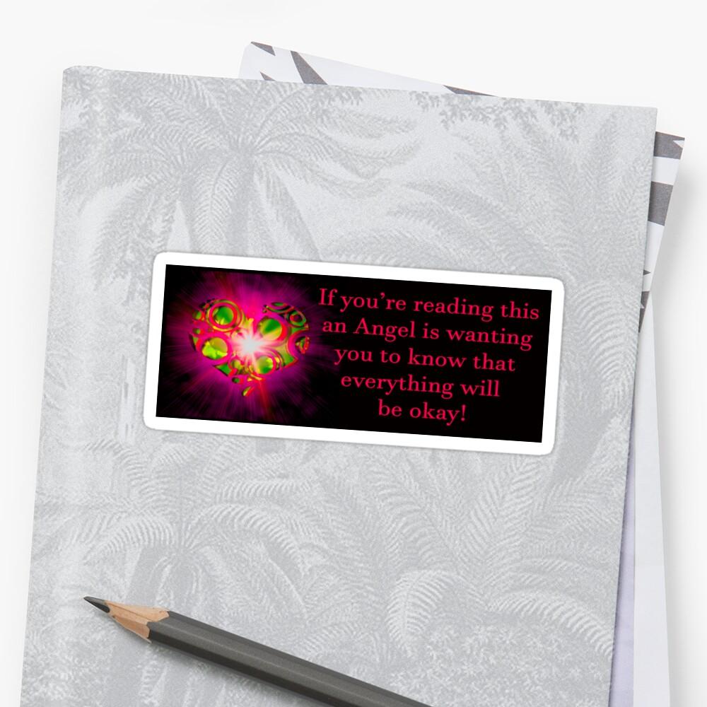 Angel Message Bumper Sticker Sticker