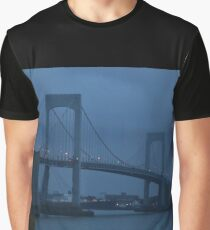 Before the Dawn on a Rainy Day at the Throgs Neck Bridge Graphic T-Shirt