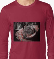 Red drops on Rose Petals Long Sleeve T-Shirt