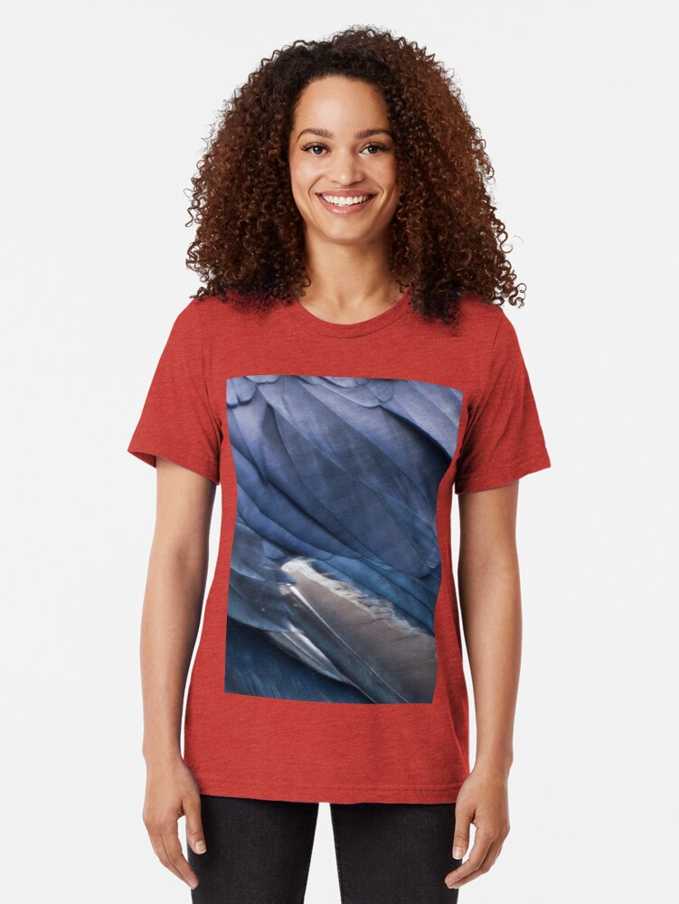 Alternate view of raven Tri-blend T-Shirt