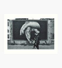Breaking Through. (Berlin Wall) Art Print