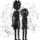 Grunge Rick and Morty Silhouette by Cats 13