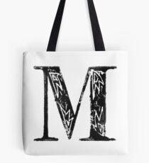 Serif Stamp Type - Letter M Tote Bag