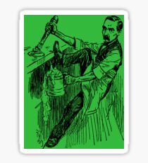 Barkeep on the Job (Green Background) Sticker