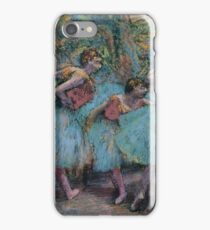 Edgar Degas - Three Dancers Blue Tutus, Red Bodices Impressionism  ballerina dancer iPhone Case/Skin