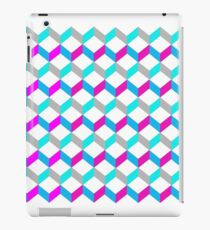 Bold Bright Trendy Optical Illusion Color Blocks Geometric Print iPad Case/Skin