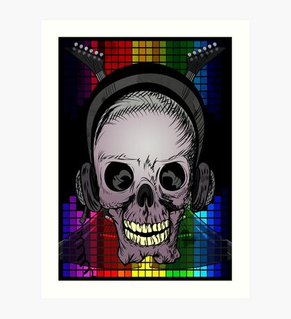 Skull, Guitars and Rock and Roll! Art Print