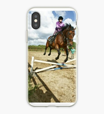 How to ride a horse: Get on it, and off you go! iPhone Case
