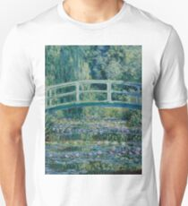 Claude Monet - Water Lilies and Japanese Bridge (1899)  Impressionism T-Shirt