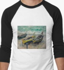 Claude Monet - Three Fishing Boats (1886)  Impressionism T-Shirt