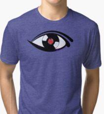 Eye Heart Vinyl (I Love Vinyl) Modern Conceptual Art Vinyl Records Music Tri-blend T-Shirt