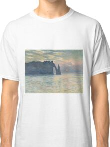 Claude Monet - The Cliff, Étretat,  Sunset  Impressionism Classic T-Shirt
