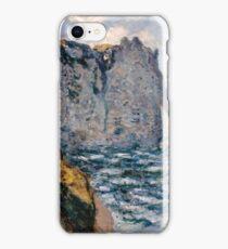 Claude Monet - The Cliff of Aval Etrétat, Impressionism iPhone Case/Skin