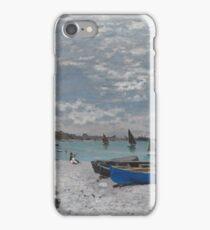 Claude Monet - The Beach at Sainte-Adresse (1867) iPhone Case/Skin