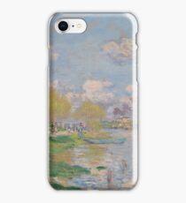 Claude Monet - Spring by the Seine, Impressionism iPhone Case/Skin