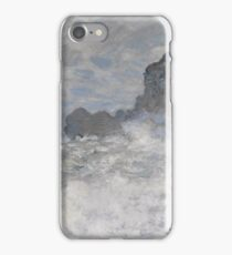Claude Monet - Rough weather at Etretat, Impressionism iPhone Case/Skin